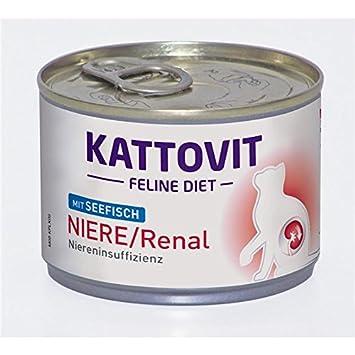 kattovit Feline Diet - Riñón/renal con pescado de mar 12 x 175 g.: Amazon.es: Productos para mascotas