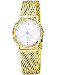 Women's 'Helvetica' Quartz Stainless Steel and Gold Plated Casual Watch(Model: MH1.L1111.SM)