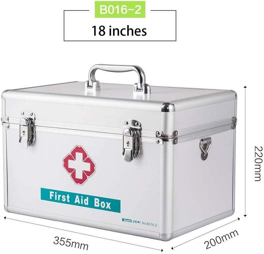 薬箱TZSMYX 家族応急処置ボックス特大アルミ合金医療ボックス多層医療要件ボックス家庭用医療 TYTZSM (Size : 18)