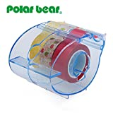 Multi Roll Tape Dispenser,including 3 rolls washi masking tape, 0.59 Inch X 10 Yards each, 1 inch Core ,Refillable (PB-1503CA)