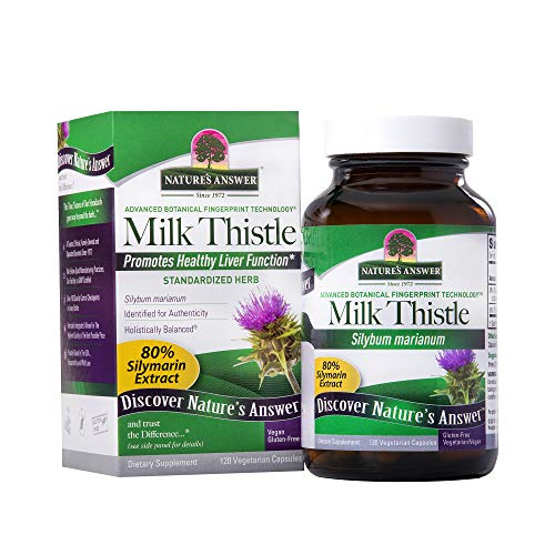 - Nature's Answer Milk Thistle Seed Vegetarian Capsules, 120-Count