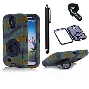 vMart Camera Appearance Design Hybrid Hard Case With Stand Case Cover for Samsung Galaxy S4,vMart-Camouflage