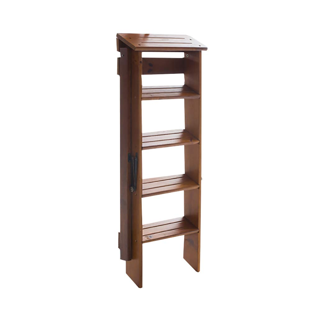 1 step stool YXX Portable Non-Slip 3 Step Ladder Stool Wood Folding Stepladder for Adults Kitchen, 220 Lb Capacity (color    1)