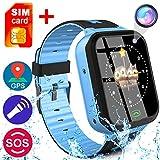 Kids Smart Watch Phone for Girls Boys - IP68 Waterproof GPS Tracker Locator