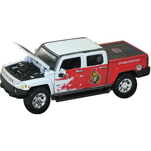 Top Dog TDH09H3OS NHL Ottawa Senators 1:26 Scale 09 Hummer H3T Grosnor