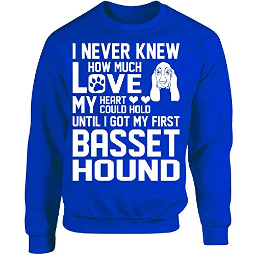 I Never Knew How Much Love My Heart Could Hold Basset Hound - Adult Sweatshirt ()