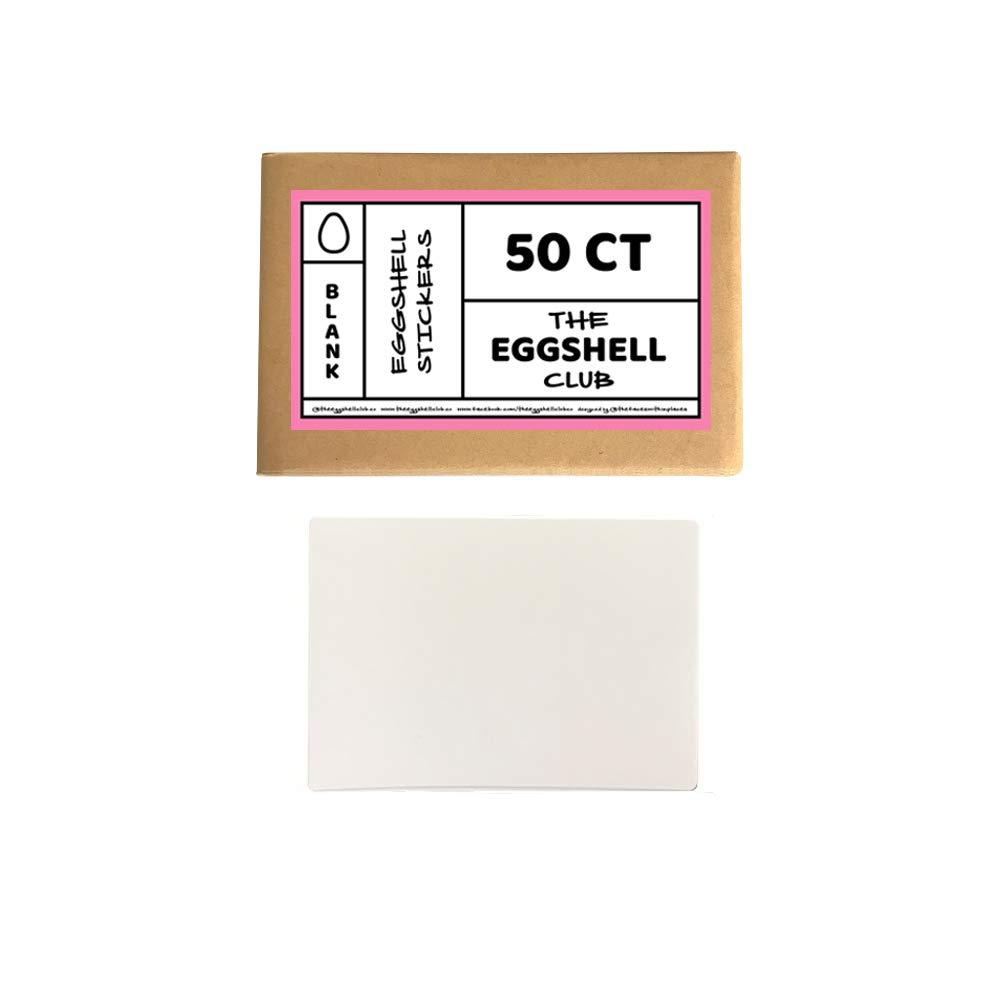 White   Premium Eggshell Sticker Blanks   50 Pack   Sun-Proof UV Ink   Weather Resistant   Quick & Easy Peel