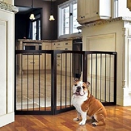 Animal Planet Wooden Pet Gate Fence Dogs Cats Pets Doorway Hall Baby Children Rv by Animal Planet (Image #1)