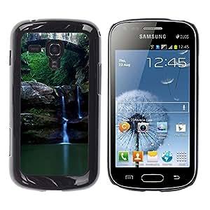TopCaseStore / la caja del caucho duro de la cubierta de protección de la piel - Nature Beautiful Forrest Green 89 - Samsung Galaxy S Duos S7562