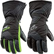 Youth Green Arctic Cat Gloves,75% Nylon, 25% Leather
