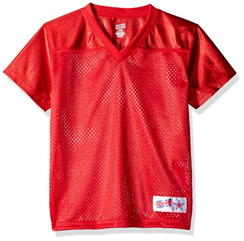 Soffe Girls' Big BRD MSH Fb Jrsy Dzzl Ykslv, Red, X-Large ()