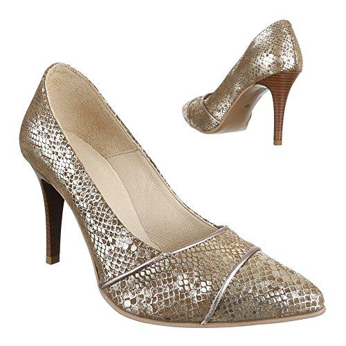 Damen Schuhe 5447 Pumps Leder High Heels