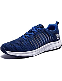 Men's Sneakers Lightweight Mesh Athletic Running Shoes Breathable Non-Slip Tennis Shoes