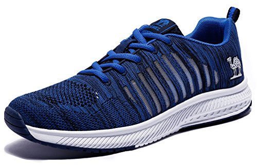 - Camel Fishbone Men's Running Shoes Lightweight Mesh Athletic Sneakers Sports Non-Slip Fashion,Blue,Size 12