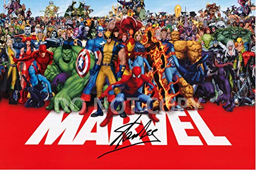 Stan Lee comic book legend reprint signed autographed Marvel superstars 12x18 poster photo #1 RP from Loa_Autographs