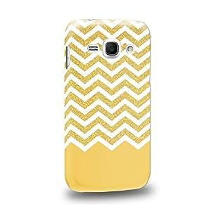 Case88 Premium Designs Yellow glitter chevron trend mix Carcasa/Funda dura para el Samsung Galaxy Ace 3