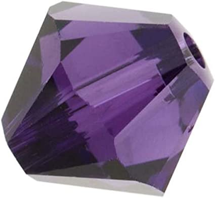 purple Preciosa Czech bicone crystal beads faceted Amethyst AB choose size
