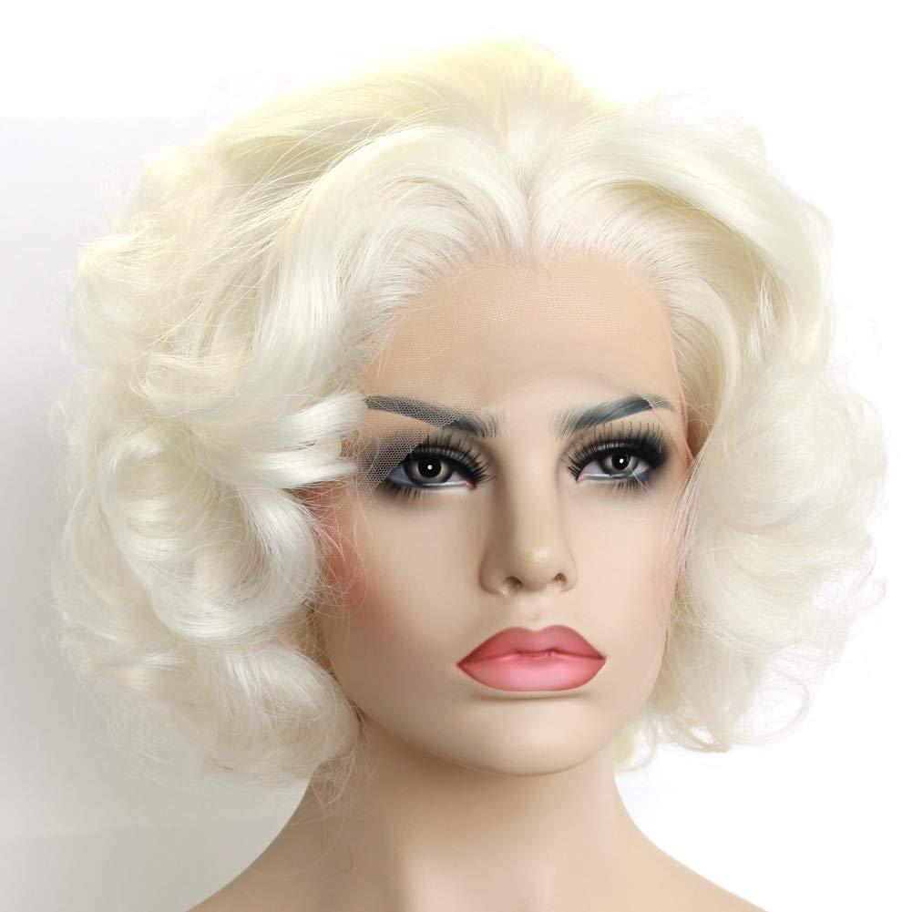Exvogue Short Wavy Blonde Wig Celebrity Style