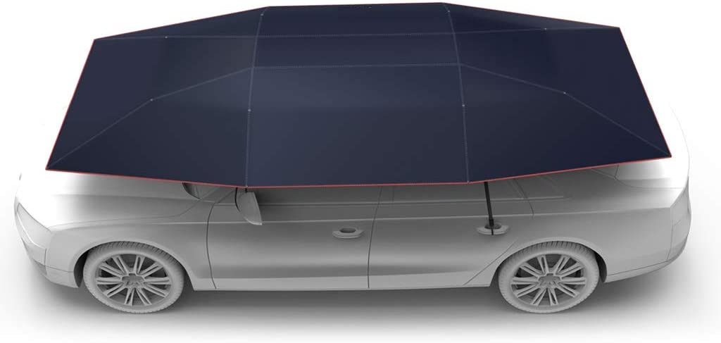 Automatic and Manual 2 in 1 Automatic Anti-UV Car Tent Movable Carport Folded Portable Automobile Protection Car Umbrella Sunproof Sun Shade Canopy Cover Universal AICase Car Tent Umbrella