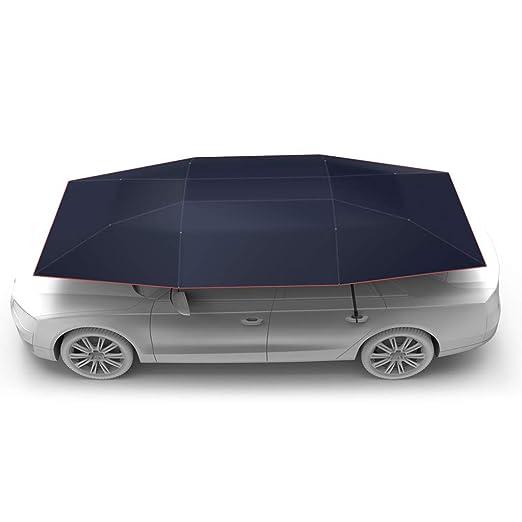 Carpa plateada para automóvil con control remoto automático ...