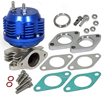 Universal 38 mm Super acanalado externo Turbo colector wastegate 8psi azul: Amazon.es: Coche y moto