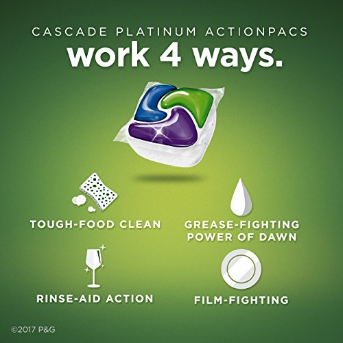 Large Product Image of Cascade Platinum ActionPacs Dishwasher Detergent, Fresh, 62 count (Packaging May Vary)