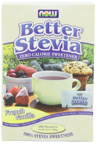 NOW Foods French Vanilla Stevia,100 Packets