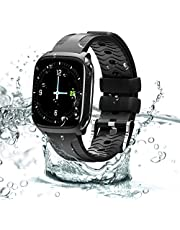 Smartwatches Fitness Tracker with Camera Waterproof Sports Watch Activity Tracker Smart Bracelet Full Screen Touch with Heart Rate Blood Pressure Sleep Monitor pedometer Smart Wristband Compatible with iOS Android