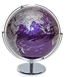 Purple Contemporary Globe of the World 12''