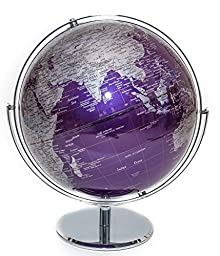 Purple Contemporary Globe of the World 12\