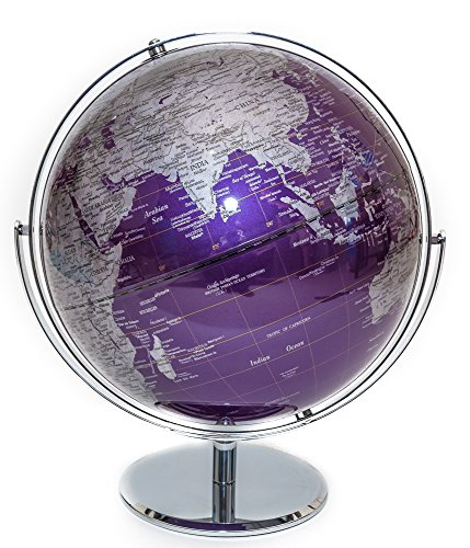 Purple Contemporary Globe of the World 12'' by Bello Games New York, Inc.