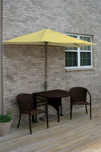 Terrace Mates Genevieve 42 in. 5 Pc Folding Sunbrella Set (Yellow)