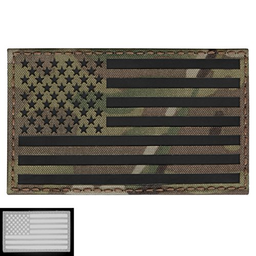 Big 3x5 Multicam Infrared IR USA American Flag IFF Tactical Morale Touch Fastener Patch