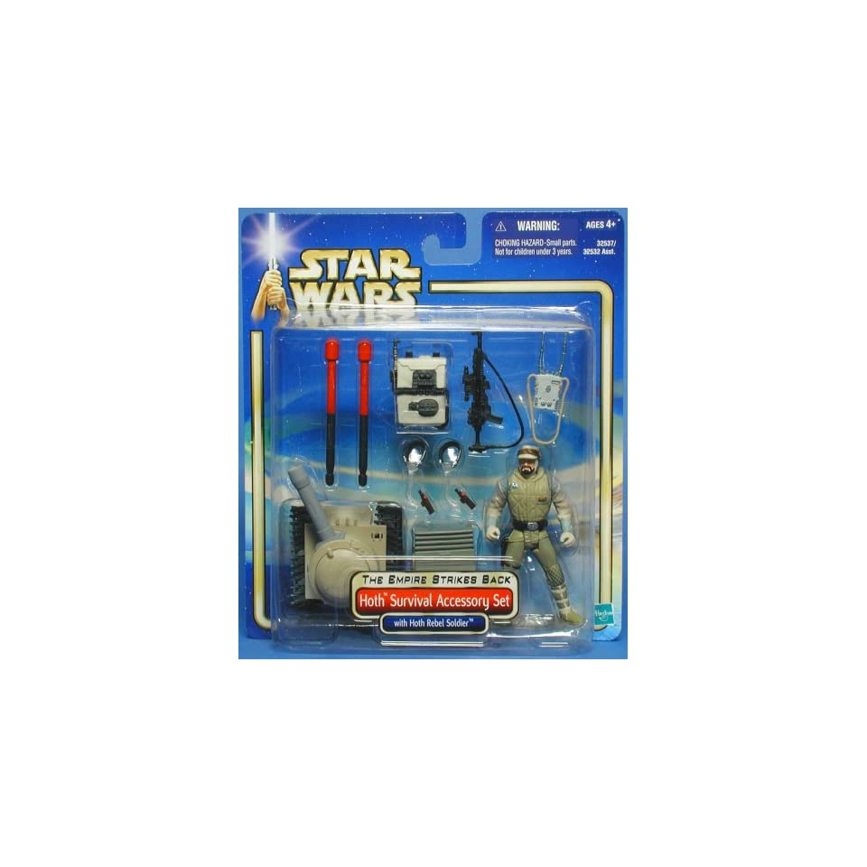 STAR WARS EMPIRE STRIKES BACK HOTH SURVIVAL ACCESSORY SET WITH HOTH REBEL SOLDIER