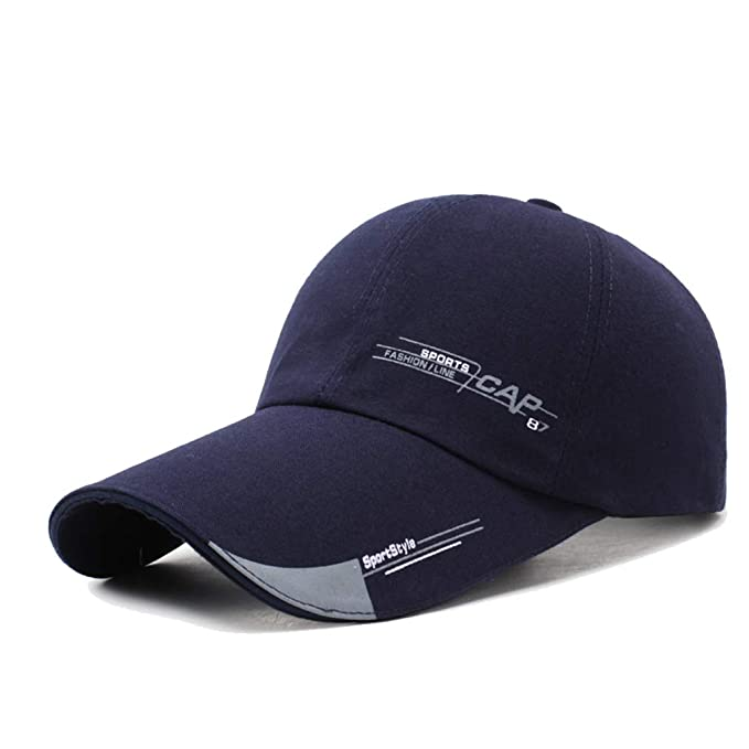 d66e22df26abd Unisex del casquillo del Snapback Llanura curvo Visera Gorra de béisbol de Hip  Hop ajustable sombrero