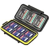 JJC  1年間保障 SDカード 6枚 CFカード 3枚 収容可能 防水 防塵 カードケース