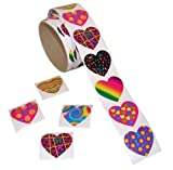 Toys : Fun Express Funky Heart Roll Stickers (100 Piece)