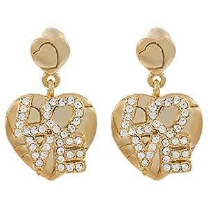 Venus Accessories V0311282-G Gold Pltd Dangle Earrings, P. Closure