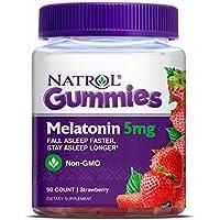 90 Count Natrol Melatonin 5Mg Gummy (Strawberry)
