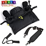 car accesories for girl - Baby Stroller Organizer Accesories for Smart Moms|PADDED Shoulder Strap & BONUS Stoller Hooks(2pcs), Extra-Large Storage Space for iPhones, Wallets, Toys, Diapers, Bottles for Walking Shopping (Black)