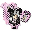 Disney Girls' Minnie Mouse 3 Piece Layette Set, Light Pink, 0-3 Months