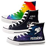 Glow Effect Customzied Noble Gases Science Printed Canvas Shoes Funny Periodic Table Nerdy High Top Casual Flats Sneakers Geeks (10.5 M US Women / 9 M US Men/CN#44, Black T-ZHX06HY)