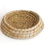 Handmade Woven Grass Birds Cages Flat Base Straw Mats Pet Nest Bed House for Chicken Dove Hamster Gerbil Chinchillas CC02