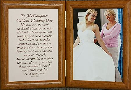Amazon 5x7 Hinged To My Daughter On Your Wedding Day Poem Frame