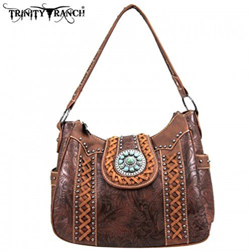 TR05-8291A Montana West Trinity Ranch Buckle Collection Handbag