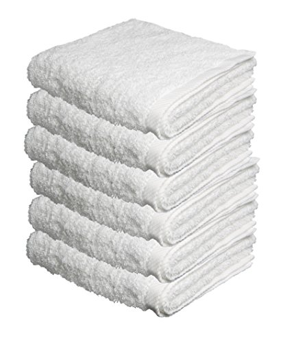 BUNDLE OF 6, 40''x80'', Turkish Spa Bath Sheet, 560 GSM. (WHITE) by ThirstyTM Towels OR Pamooq