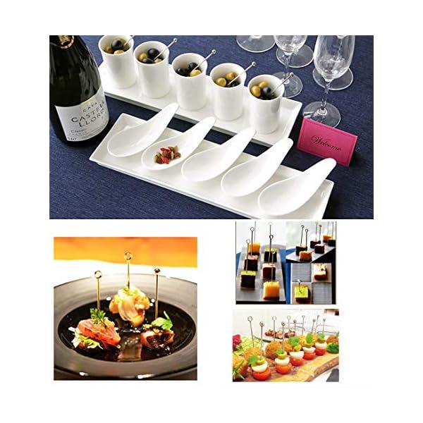GCOA 20 Pezzi Bastoncini da Cocktail, Cocktail Picks in Acciaio Inox Bastoncini da Frutta per Catering, Banchetti… 6 spesavip