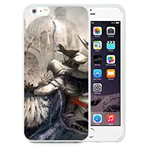 6 Plus TPU case,Assassins Creed Picture Blood Attack Fan Art Guard Pigeons Desmond Miles White iPhone 6 Plus TPU cover