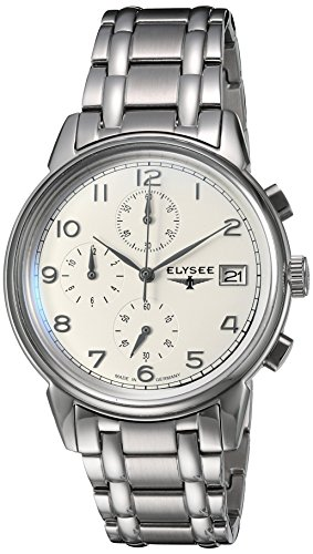 ELYSEE Men's 80550S Classic-Edition Analog Display Quartz Silver Watch