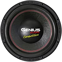 Genius N10-12D4 12 3000 Watts-Max Car Audio Subwoofer Nitro Competition Dual 4-Ohms